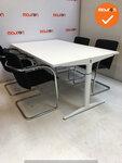 Ahrend vergadertafel - 180x100cm - wit - hout - mehes - refurbished