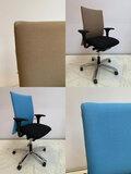 Het herstofferen van een Haworth Comforto 55 stoel voor een aantrekkelijke prijs