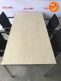 Vergaderset - 160x80cm - Ahorn - 4 poots - Chroom frame - Inclusief 4 Ahrend 4153 vergaderstoelen