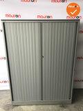Roldeurkast - Ahrend - 160x120x45cm - Zilvergrijs - Zilvergrijs kunstof deur