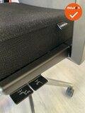 Haworth Comforto 59 zwarte stoffering - aluminium voetkruis