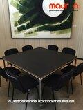 Ahrend Move-it design vergadertafel - 100x100 - vierkant - zwart
