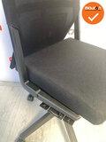 Haworth Comforto 59 - antraciet grijze stoffering - kleur voetkruis naar keuze - zonder armleuning_