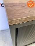 Roldeurkast - Ahrend - 74x120x45cm - antracietgrijs - topblad naar keuze