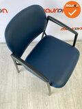 Vergaderstoel - Ahrend 320 - Blauw kunstleer - Zwart frame