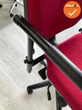 RH Logic 400 - Rode stoffering - met hoofdsteun - Zwart voetkruis