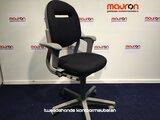 Ahrend 220 bureaustoel - grijs frame - nieuwe zwarte stoffering