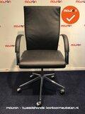 Ahrend 350 bureaustoel - zwart leer - nieuwstaat