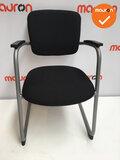 Ahrend 4230 / 262 zwarte stoffering - zilvergrijs frame_
