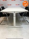 Ahrend mehes vergadertafel - 180x100cm - wit - refurbished