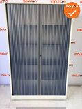 Roldeurkast - Ahrend - 195x120x45cm - Wit - transparante deur
