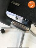 Ahrend 2020 - Hoge rug - zwart - gepolijst aluminium voetkruis - gebruikt