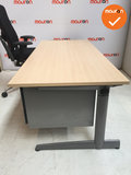 Ahrend Slinger Werkplek - Inclusief ladeblok en bureaustoel - 180x80 - Ahorn -  Zilvergrijs 500_