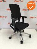 Ahrend 230 - hoge rug  - nieuwe stoffering kleur naar keuze - Gepolijst aluminium voetkruis