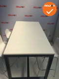 Arca Bartafel - 160x80 -Antraciet frame - nieuw wit blad