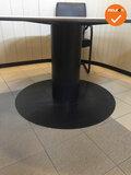 Ahrend vergadertafel - rond - Grijs eiken -  Zwart frame - 160cm