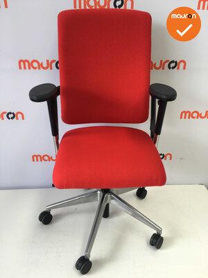 Rohde & Grahl - Xenium - Nieuwe rode stoffering - gepolijst aluminium voetkruis