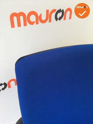 Rohde & Grahl - Xenium - Nieuwe donkerblauwe stoffering - gepolijst aluminium voetkruis