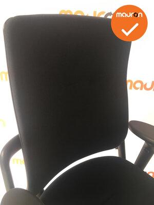 Rohde & Grahl - Xenium - bestaande zwarte stoffering - gepolijst aluminium voetkruis