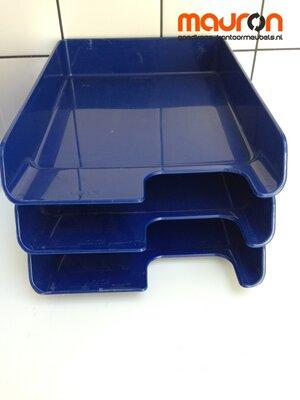Leitz postbak - kunststof - blauw - stapelbaar