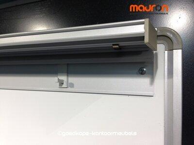 Whiteboard - 108x77 cm - wit - met flipboard functie