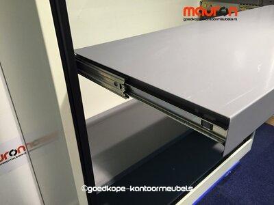 Uittrekbaar legbord voor Ahrend 120cm roldeurkast - Antracietgrijs