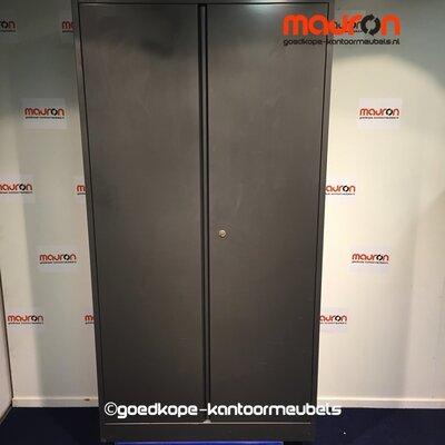 Draaideurkast - Ahrend - 195x100x45cm - Antracietgrijs