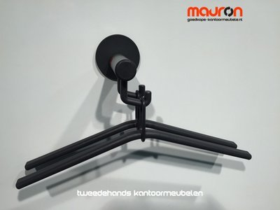 Wand kapstok - magnetisch - Van Esch Tertio 16 - Alu/zwart