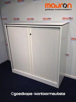 Roldeurkast - Ahrend - 110x120x45cm - Wit - Topblad naar keuze