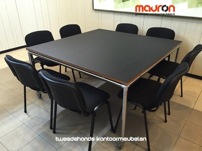 Ahrend Move-it design vergadertafel - 150x150 - vierkant - zwart