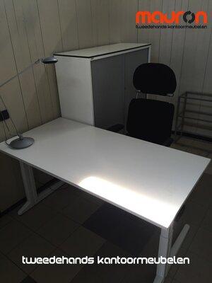 Ahrend bureau - 160x80cm - wit - hout - Essa - refurbished