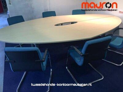 Ahrend 500 vergadertafel - 300x180cm - ovaal - ahorn