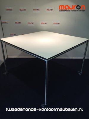 Ahrend Move-it design vergadertafel - 150x150 - wit - volkern