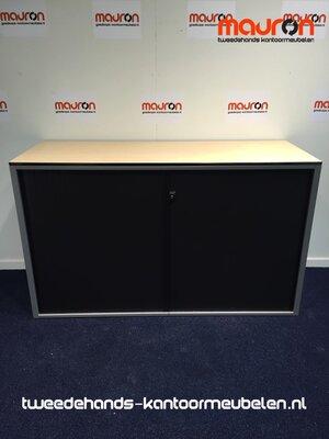 Roldeurkast - Ahrend - 74x120x45cm - zilvergrijs - Topblad naar keuze