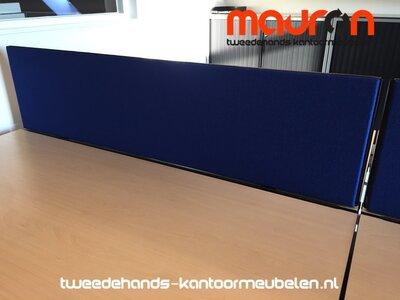 Akoestisch tafelscherm - dubbelzijdig - 160x40cm - keuze uit 30 kleuren