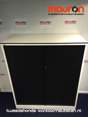Roldeurkast - Ahrend - 144x120x45cm - wit - topblad naar keuze