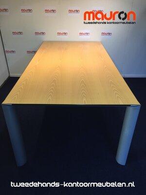 Ahrend 1030 vergadertafel - 220x110cm - rechthoekig - volkern - Beuken fineer