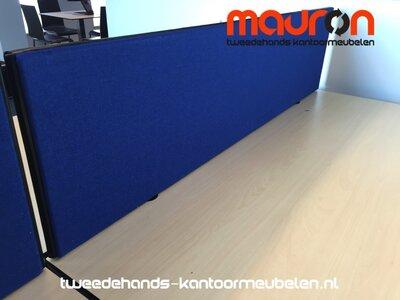 Akoestisch tafelscherm - dubbelzijdig - 140x40cm - keuze uit 30 kleuren
