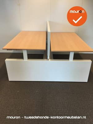 Ahrend bureau - 160x80cm - Licht peren - hout - duo set - Four-Two