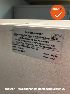 Sleutelkluis - De Raat - 150x80x56cm - lichtgrijs - 350kg
