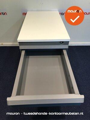 Ladeblok - 57x43x76cm - Lichtgrijs - 4 laden - kunststof - topblad naar keuze