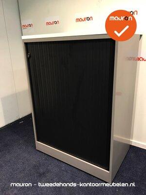Roldeurkast - Ahrend - 110x80x50cm - zilvergrijs