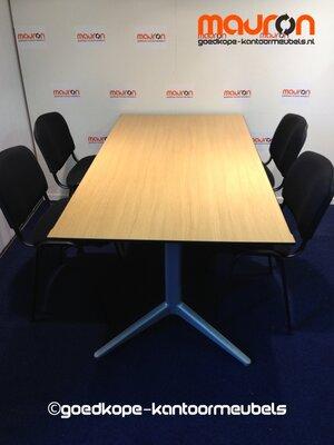 Ahrend vergadertafel - 160x100cm - grijs eiken