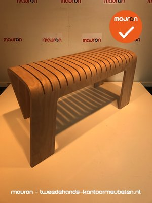 Ahrend 601 designbank - groot model - onbehandeld hout