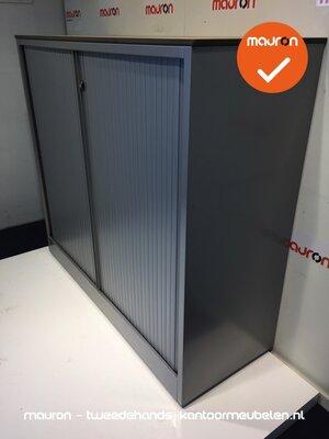 Roldeurkast - Ahrend - 110x120x45cm - zilvergrijs met grijze deur