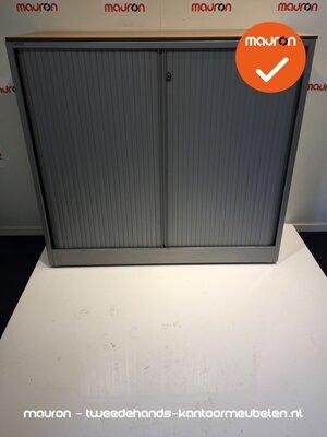 Roldeurkast - Ahrend - 120x120x45cm - zilvergrijs met grijze deur