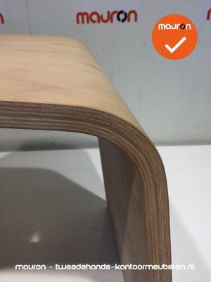 Ahrend 601 designkruk - klein dicht model - onbehandeld hout