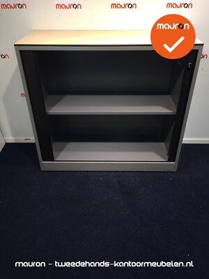 Roldeurkast - Ahrend - 110x120x45cm - zilvergrijs