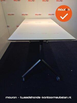 Vergadertafel - 200x80cm - Klaptafel - Wit