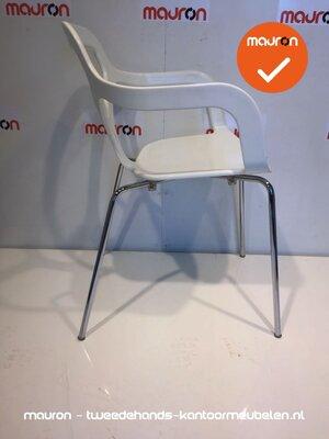 Design stoel - Desalto Trace - Wit met chroom onderstel
